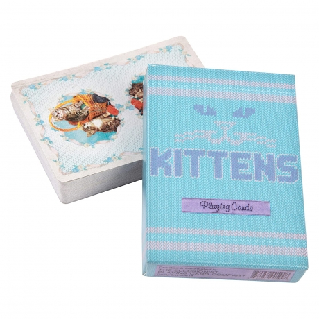 Bicycle Kittens Blue